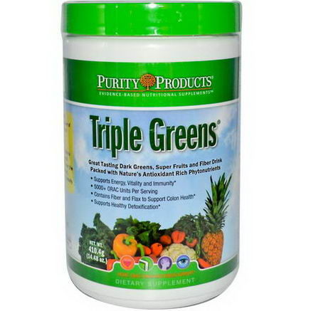 Purity Products, Triple Greens, 14.48oz (410.4g)