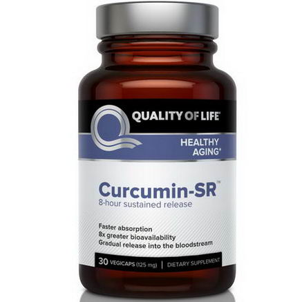 Quality of Life Labs, Curcumin-SR, Healthy Aging, 125mg, 30 Veggie Caps