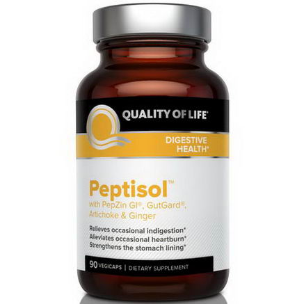 Quality of Life Labs, Peptisol, 90 Veggie Caps