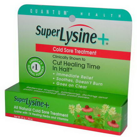 Quantum Health, Super Lysine + Cold Sore Treatment, 7g (. 25oz)