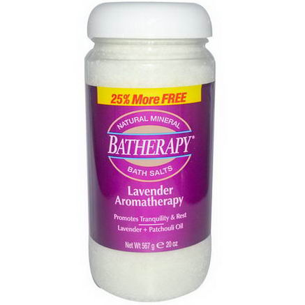 Queen Helene, Batherapy, Natural Mineral Bath Salts, Lavender Aromatherapy, 20oz (567g)