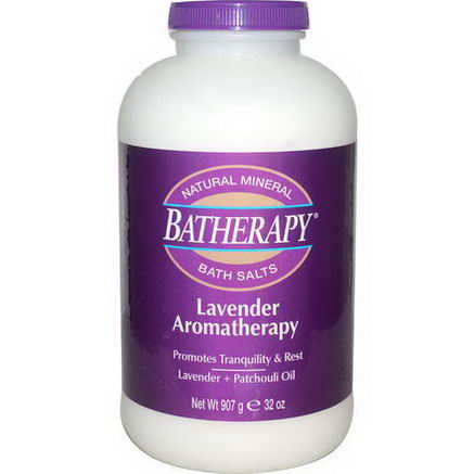 Queen Helene, Batherapy, Natural Mineral Bath Salts, Lavender Aromatherapy, 32oz (907g)