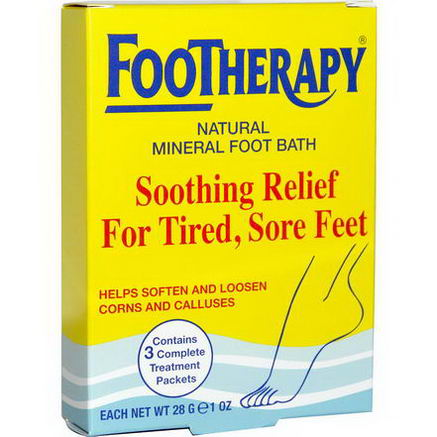 Queen Helene, FooTherapy, Natural Mineral Foot Bath, 3 Packets, 1oz (28g) Each