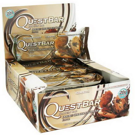 Quest Nutrition, Protein Bar, Double Chocolate Chunk, 12 Bars, 2.12oz (60g) Each