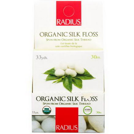 RADIUS, USDA Organic Biodegradable Silk Floss, 33 yds (30 m)