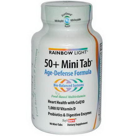 Rainbow Light, 50+ Mini Tab, Age-Defense Formula, 90 Mini-Tabs