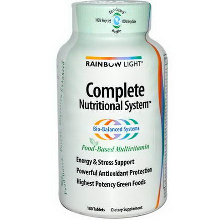 Rainbow Light, Complete Nutritional System, Food-Based Multivitamin, 180 Tablets