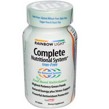 Rainbow Light, Complete Nutritional System, Food-Based Multivitamin, Iron-Free, 90 Tablets