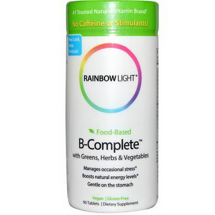 Rainbow Light, Food-Based B-Complete with Greens, Herbs & Vegetables, 90 Tablets