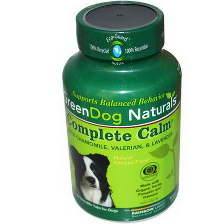 Rainbow Light, GreenDog Naturals, Complete Calm, Natural Chicken Flavor, For Dogs, 30 Chewable Tablets