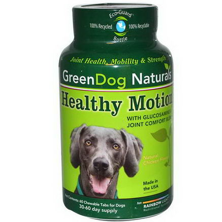 Rainbow Light, GreenDog Naturals, Healthy Motion, Natural Chicken Flavor, 60 Chewable Tablets