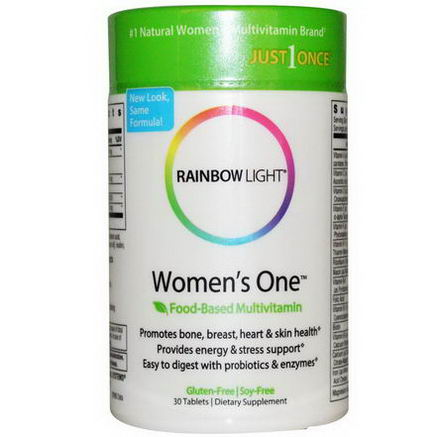 Rainbow Light, Just Once, Women's One, Food-Based Multivitamin, 30 Tablets