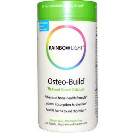 Rainbow Light, Osteo-Build, Food-Based Calcium, 120 Tablets