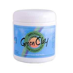 Rainbow Research, French Green Clay, Facial Treatment Mask, 8oz (225g)