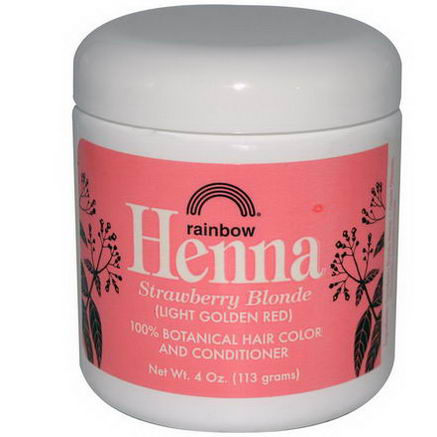 Rainbow Research, Henna, 100% Hair Color and Conditioner, Persian Strawberry, (Light Golden Red), 4oz (113g)