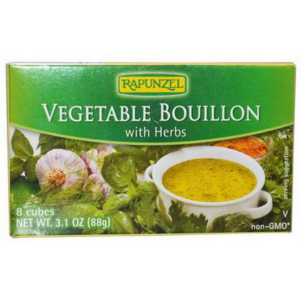 Rapunzel, Vegan Vegetable Bouillon with Herbs, 8 Cubes 3.1oz (88g)