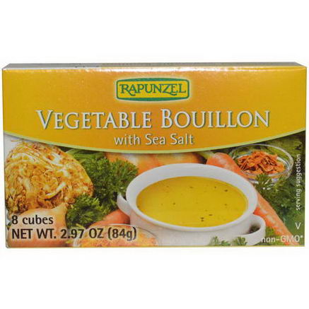 Rapunzel, Vegan Vegetable Bouillon with Sea Salt, 8 Cubes, 2.97oz (84g)