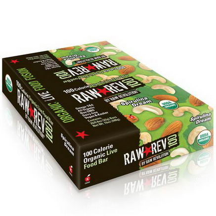 Raw Revolution, Raw Rev 100, Spirulina Dream, 20 Bars, 0.8oz (22g) Each