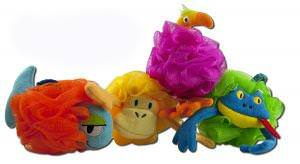 Razz, Net Animal Sponges, Assorted, 4 Sponges