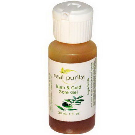 Real Purity, Burn & Cold Sore Gel, 1 fl oz (30 ml)