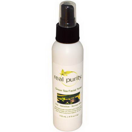 Real Purity, Green Tea Facial Toner, 4 fl oz (118 ml)