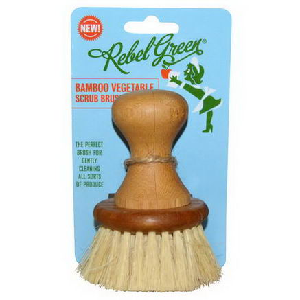 Rebel Green, Bamboo Vegetable Scrub Brush