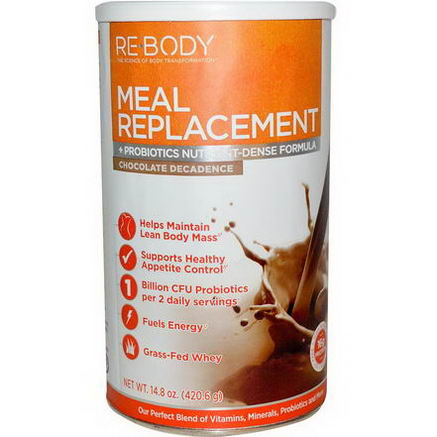 Rebody Safslim, Meal Replacement, Chocolate Decadence, 14.8oz (420.6g)