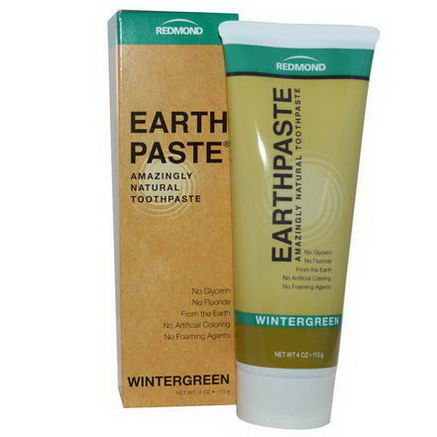 Redmond Trading Company, Earthpaste, Amazingly Natural Toothpaste, Wintergreen, 4oz (113g)