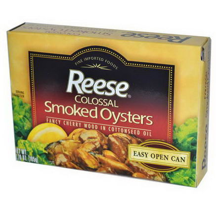 Reese, Colossal Smoked Oysters, 3.70oz (105g)