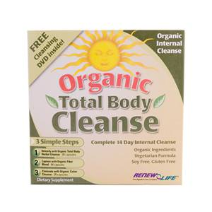 Renew Life, Organic Total Body Cleanse, Complete 14-Day Internal Cleanse, 3-Part Program