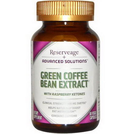 ReserveAge Organics, Advanced Solutions, Green Coffee Bean Extract, 60 Veggie Caps