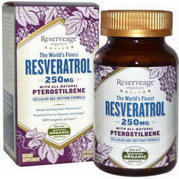 ReserveAge Organics, Resveratrol with All-Natural Pterostilbene, 250mg, 60 Veggie Caps