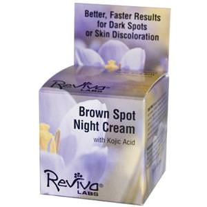 Reviva Labs, Brown Spot Night Cream with Kojic Acid, 1oz (28g)