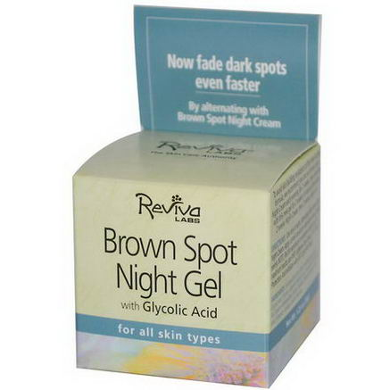 Reviva Labs, Brown Spot Night Gel with Glycolic Acid, 1.25oz (35g)