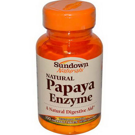 Rexall Sundown Naturals, Papaya Enzyme, 100 Chewable Tablets