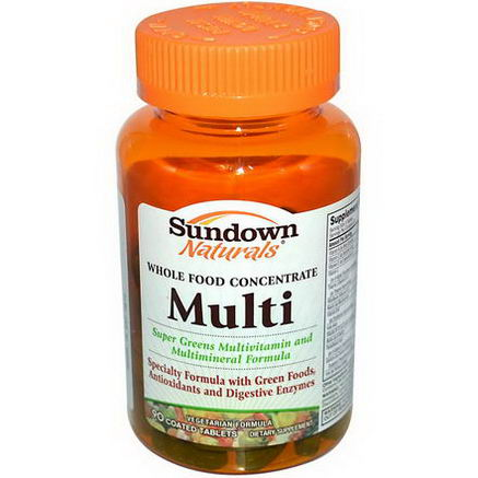 Rexall Sundown Naturals, Whole Food Concentrate Multi, 90 Coated Tablets