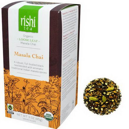 Rishi Tea, Organic, Masala Chai, Loose Leaf Tea, 3oz (85g)