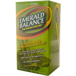 SGN Nutrition, Emerald Balance, Total Nutrition Drink Mix, Minty Green Tea Flavor, 28 Packets, 9.4g Each