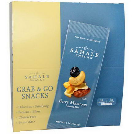 Sahale Snacks, Almond Mix, Berry Macaroon, 9 Packs, 1.5oz (42.5g) Each