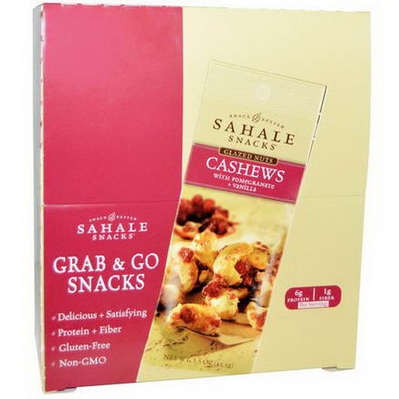 Sahale Snacks, Glazed Nuts, Cashews with Pomegranate and Vanilla, 9 Packs, 1.5oz (42.5g) Each