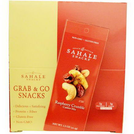 Sahale Snacks, Raspberry Crumble Cashew Mix, 9 Units, 1.5oz (42.5g) Each