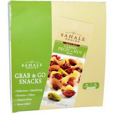 Sahale Snacks, Trail Mix Classic Fruit + Nut Blend, 9 Packs, 1.5oz (42.5g) Each