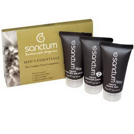 Sanctum, Sustainable Organics, Men's Essentials, The Complete Travel Companion, 3 Pieces