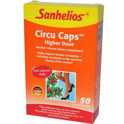 Sanhelios, Circu Caps, Higher Dose, 50 Soft Gel Capsules