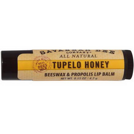 Savannah Bee Company Inc, Lip Balm, Tupelo Honey, 0.15oz (4.2g)