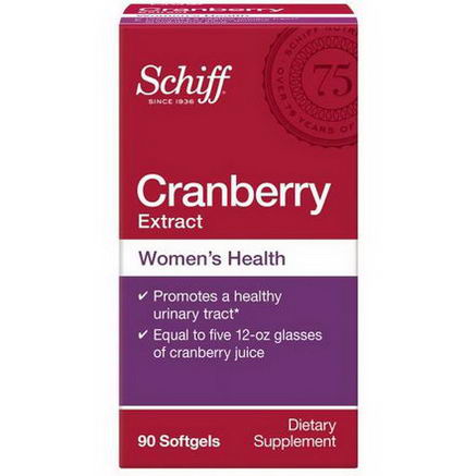 Schiff, Cranberry Extract, 90 Softgels