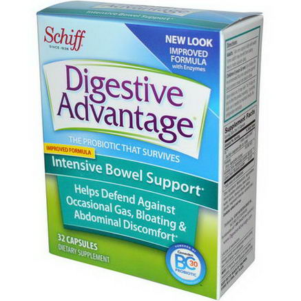 Schiff, Digestive Advantage, Intensive Bowel Support, 32 Capsules