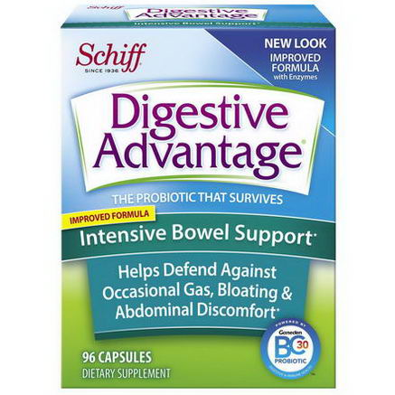 Schiff, Digestive Advantage, Intensive Bowel Support, 96 Capsules