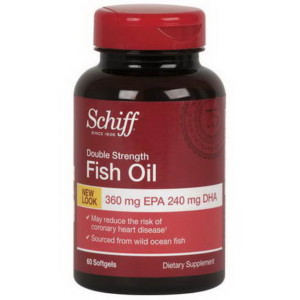 Schiff, Fish Oil, Double Strength, 60 Softgels