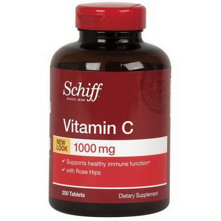Schiff, Vitamin C, 1000mg, 250 Tablets